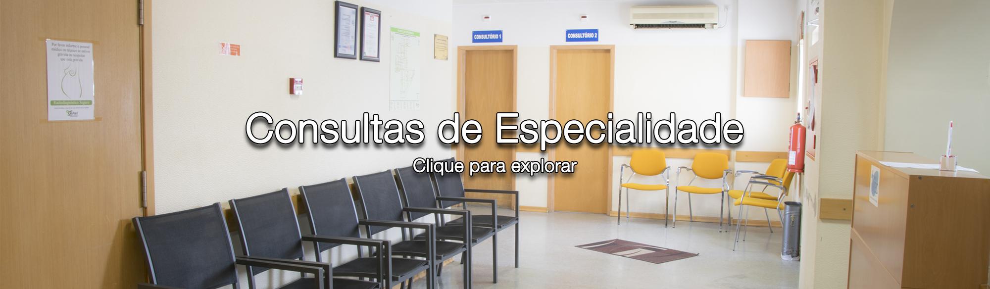 Cardiologia, Fisioterapia, Dermatologia, Dietética, Imunoalergologia, Medicina Dentária, Neurologia, Nutrição, Ortopedia, Reumatologia, Oftalmologia